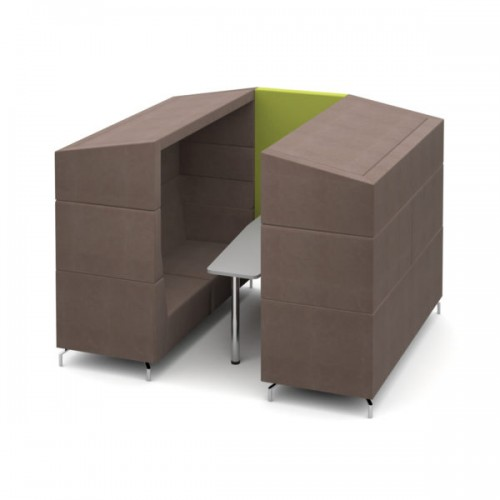 Alban Pod 6 person medium sized meeting booth with canopy - made to order