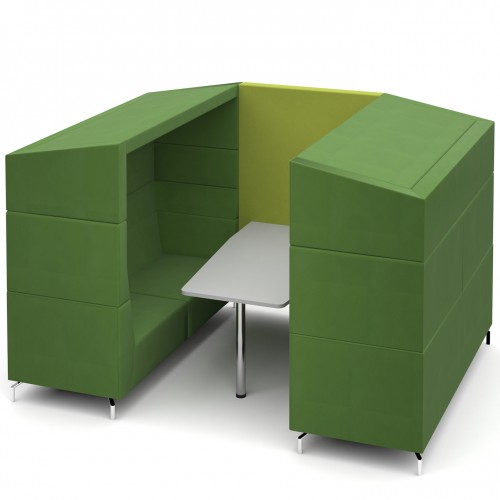 Alban Pod 6 person large meeting booth with canopy - made to order
