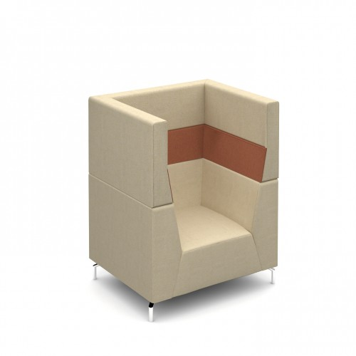 Alban High back single seater chair with chrome legs - made to order