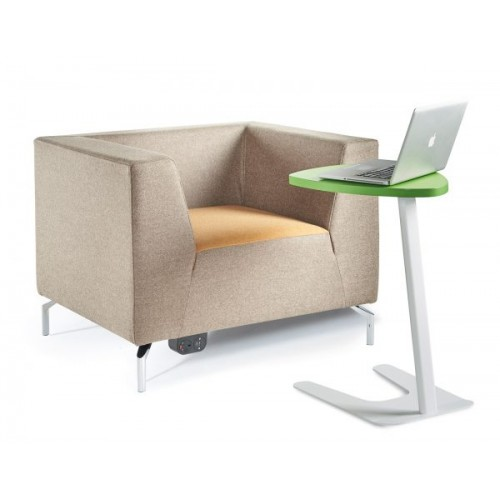 Alban low back single seater armchair with chrome legs - made to order