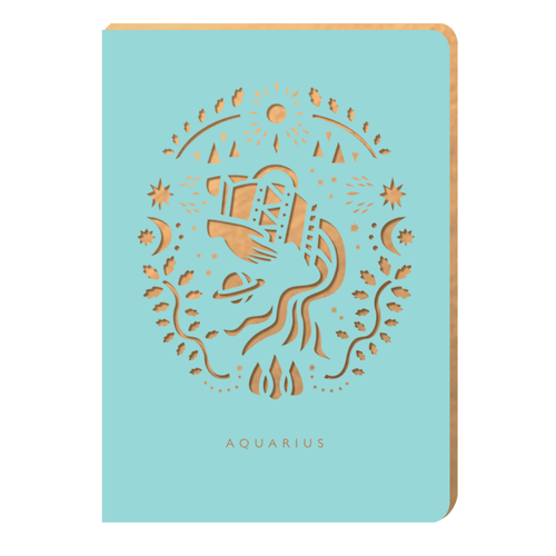 Aquarius Notebook - Zodiac Collection