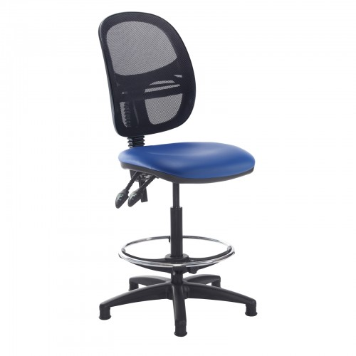 Jota Mesh Back Draughtsmans Chair With Vinyl Fabric