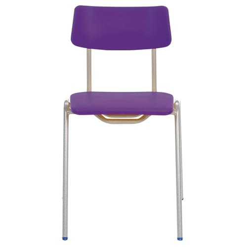 Metalliform BS Traditional School Classroom Chair - 460mm 14-Adult Years - Purple