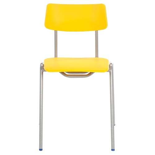 Metalliform BS Traditional School Classroom Chair - 430mm 11-14 Years - Yellow