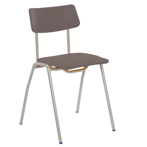Metalliform BS Traditional School Classroom Chair - 430mm 11-14 Years - Charcoal
