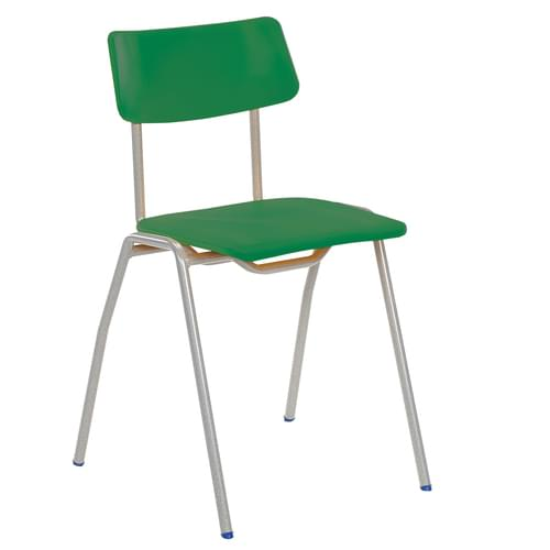 Metalliform BS Traditional School Classroom Chair - 460mm 14-Adult Years - Green