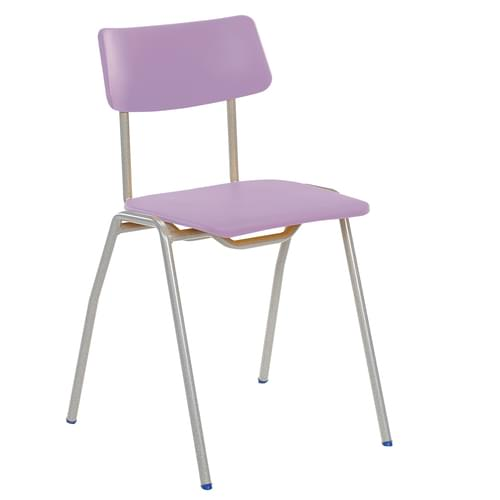 Metalliform BS Traditional School Classroom Chair - 430mm 11-14 Years - Lilac