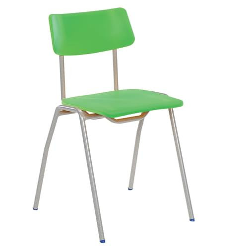 Metalliform BS Traditional School Classroom Chair - 430mm 11-14 Years - Tangy Green