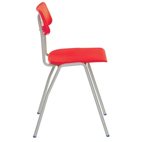 Metalliform BS Traditional School Classroom Chair - 380mm 8-11 Years - Red
