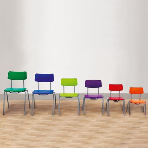 Metalliform BS Traditional School Classroom Chair - 310mm 4-6 Years - Tangy Green