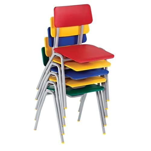 Metalliform BS Traditional School Classroom Chair - 430mm 11-14 Years - Soft Blue