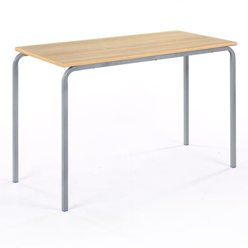 Metalliform Standard Classroom Crushed Bent Rectangular MDF Edge 1100mm Table - 590mm High - Beech and Grey