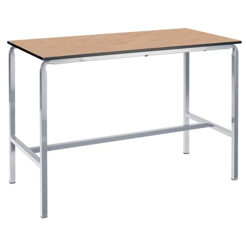 Metalliform Crushed Bent School Craft and Science Table - 1500 x 750mm - Beech 1000mm High