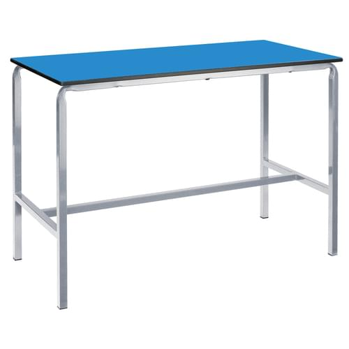 Metalliform Crushed Bent School Craft and Science Table - 1200 x 750mm - Blue 950mm High