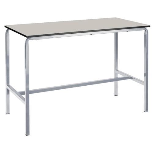 Metalliform Crushed Bent School Craft and Science Table - 1200 x 750mm - Light Grey 800mm High
