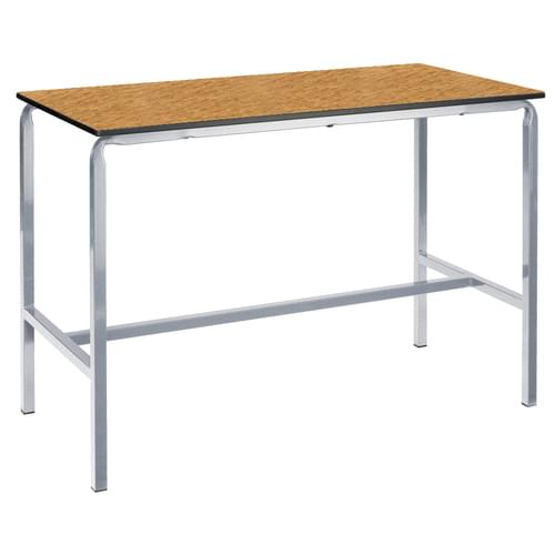 Metalliform Crushed Bent School Craft and Science Table - 1200 x 600mm - Oak 1000mm High