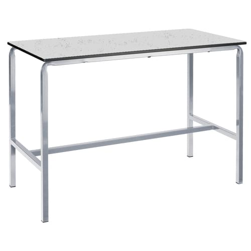 Metalliform Crushed Bent School Craft and Science Table - 1200 x 600mm - Speckled Pastel Grey 800mm High
