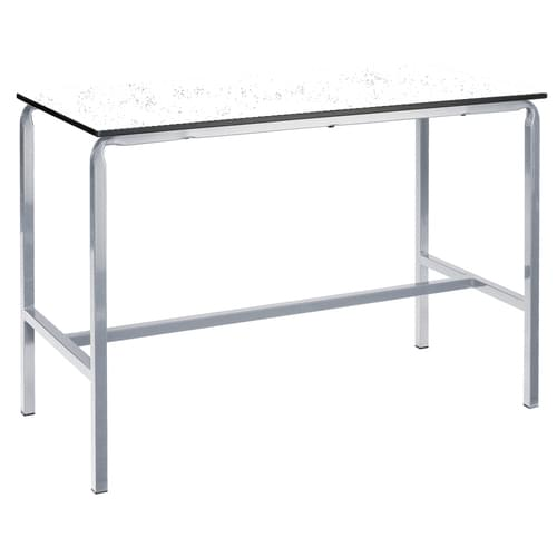 Metalliform Crushed Bent School Craft and Science Table - 1500 x 750mm - Speckled White 1000mm High