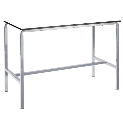 Metalliform Crushed Bent School Craft and Science Table - 1200 x 750mm - White 800mm High