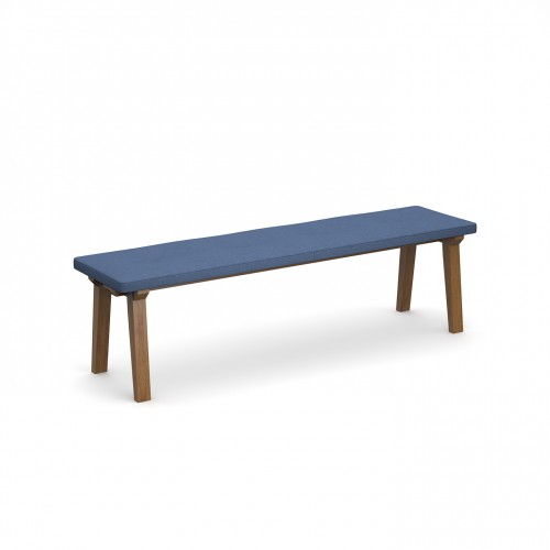 Crew upholstered dining bench 1600mm with four buttons and solid ash legs - made to order