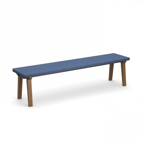 Crew upholstered dining bench 1800mm with five buttons and solid ash legs - made to order