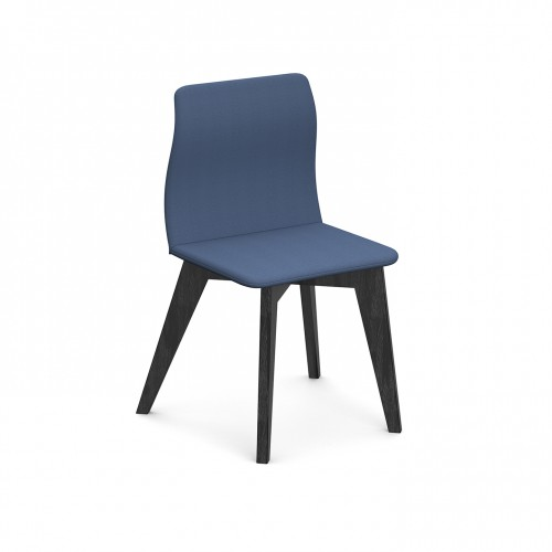 Crew upholstered chair with solid ash legs - made to order