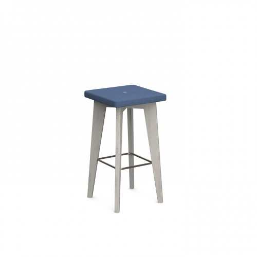 Crew upholstered high stool with solid ash legs - made to order