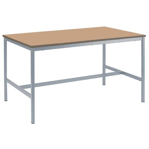 Metalliform Fully Welded School Craft and Science Table - 1200 x 750mm - Beech 1000mm High