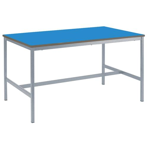 Metalliform Fully Welded School Craft and Science Table - 1500 x 750mm - Blue 850mm High