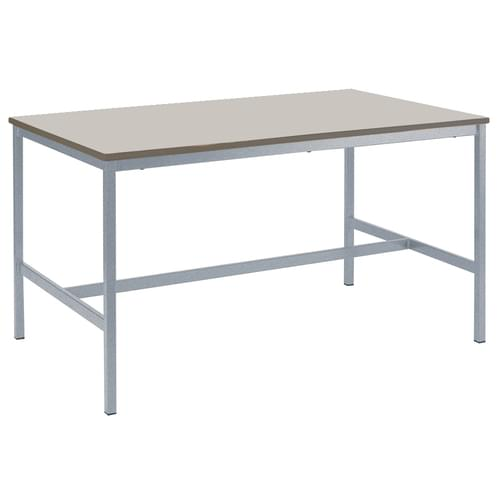 Metalliform Fully Welded School Craft and Science Table - 1500 x 750mm - Light Grey 1000mm High