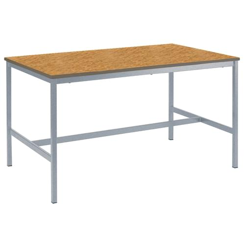 Metalliform Fully Welded School Craft and Science Table - 1200 x 600mm - Oak 900mm High