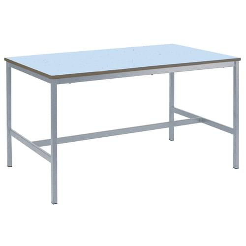 Metalliform Fully Welded School Craft and Science Table - 1200 x 750mm - Speckled Icey Blue 850mm High