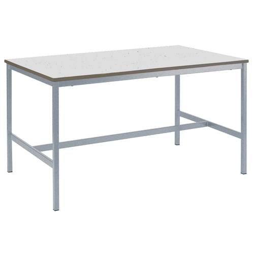 Metalliform Fully Welded School Craft and Science Table - 1200 x 750mm - Speckled Pastel Grey 900mm High