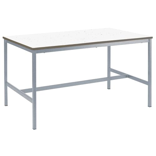 Metalliform Fully Welded School Craft and Science Table - 1200 x 750mm - Speckled White 900mm High