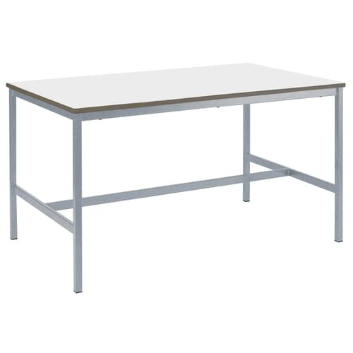 Metalliform Fully Welded School Craft and Science Table - 1500 x 750mm - White 760mm High