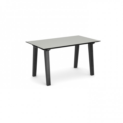 Crew rectangular table 1400mm x 800mm with solid ash leg frame and 25mm white mdf top - made to order