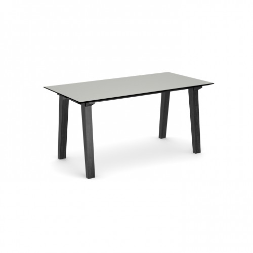 Crew rectangular table 1600mm x 800mm with solid ash leg frame and 25mm white mdf top - made to order
