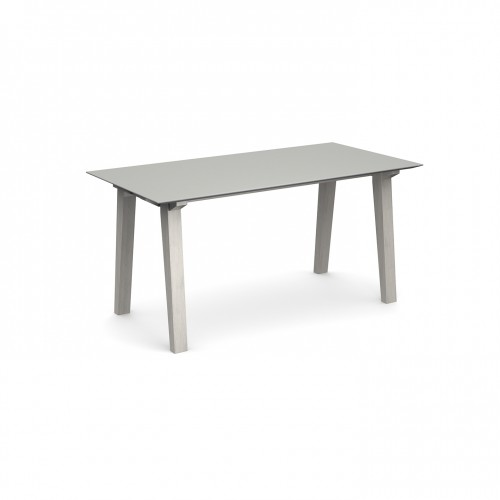 Crew rectangular table 1800mm x 800mm with solid ash leg frame and 25mm white mdf top - made to order