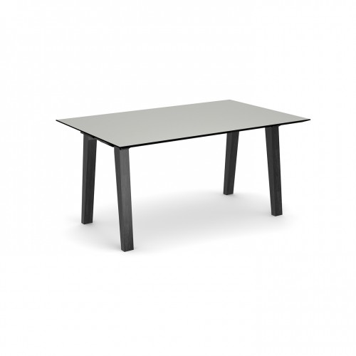 Crew rectangular table 1600mm x 1000mm with solid ash leg frame and 25mm white mdf top - made to order
