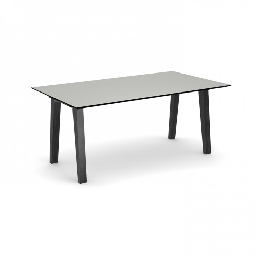 Crew rectangular table 1800mm x 1000mm with solid ash leg frame and 25mm white mdf top - made to order