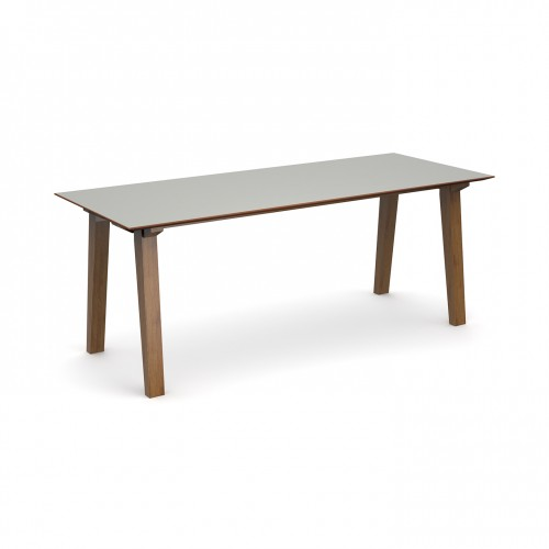 Crew rectangular table 2000mm x 800mm with solid ash leg frame and 25mm white mdf top - made to order