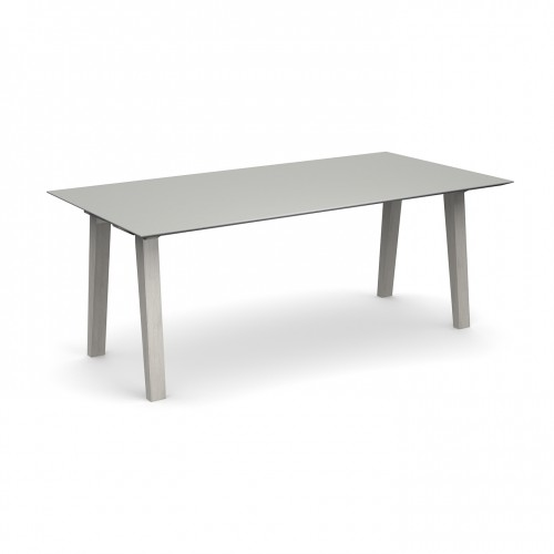 Crew rectangular table 2000mm x 1000mm with solid ash leg frame and 25mm white mdf top - made to order