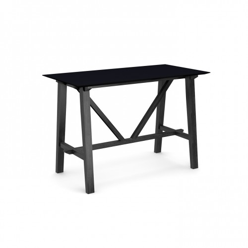 Crew poseur table 1600mm x 800mm with solid ash leg frame and 25mm white mdf top - made to order
