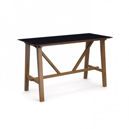 Crew poseur table 1800mm x 800mm with solid ash leg frame and 25mm white mdf top - made to order