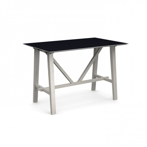 Crew poseur table 1600mm x 1000mm with solid ash leg frame and 25mm white mdf top - made to order
