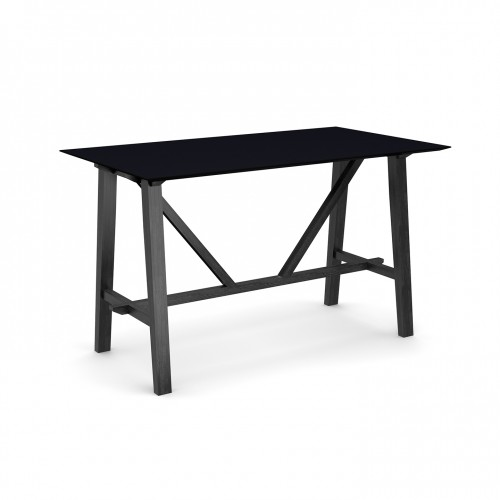 Crew poseur table 1800mm x 1000mm with solid ash leg frame and 25mm white mdf top - made to order