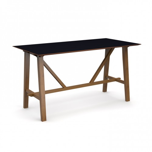 Crew poseur table 2000mm x 1000mm with solid ash leg frame and 25mm white mdf top - made to order