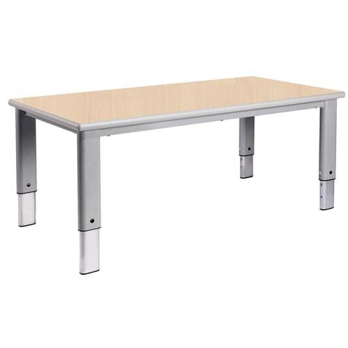 Metalliform Elite Rectangular Height Adjustable Classroom Table 1200 x 600mm - Beech