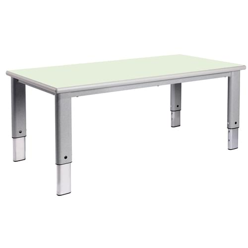 Metalliform Elite Rectangular Height Adjustable Classroom Table 1200 x 600mm - Soft Lime