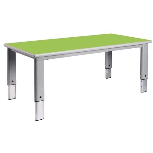 Metalliform Elite Rectangular Height Adjustable Classroom Table 1200 x 600mm - Tangy Green